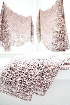 Ravelry: Rosewater shawl in Madelinetosh Tosh Sock - knitting pattern by Janina Kallio.