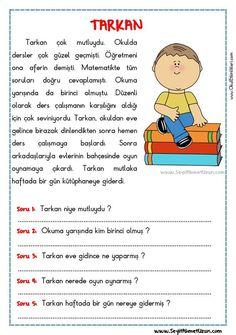 OKUMA ANLAMA METNİ – TARKAN - Seyit Ahmet Uzun – Eğitime Yeni Bir Bakış
