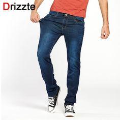Drizzte Summer Men Blue Jeans Straight High Quality Slim Pants Denim Long Length Stretch For Business Commuting Men's Jean #Men's jeans http://www.ku-ki-shop.com/shop/mens-jeans/drizzte-summer-men-blue-jeans-straight-high-quality-slim-pants-denim-long-length-stretch-for-business-commuting-men-s-jean/