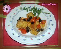 Filetto di scorfano con pomodorini ed olive