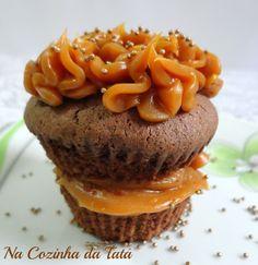 Cupcake de Chocolate com Doce de Leite