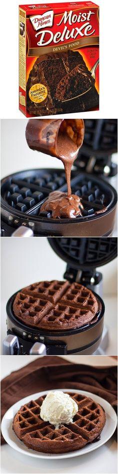 Cake Mix Waffles