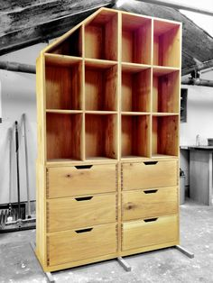 We made this from old Oak floorboards. Love upcycling.