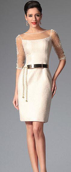 eDressit Simple Sleeves Cocktail Dress Day Dress