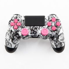 White Zombie with Pink PS4 Controller