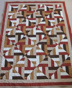 Tutorial for jelly roll/strip quilt which looks wavy with color value placement- would use dif colors