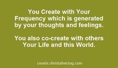 You create and co-create