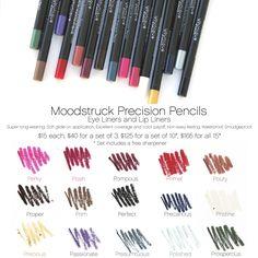 Crayons pour les yeux et lèvres Precision Younique www.BelleEtGlamour.com www.facebook.com/Cils3DetBeaute