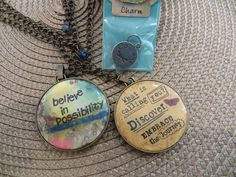 Kelly Rae Roberts Believe Round Medallion Necklace with Free Charm- Courage