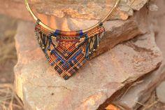 Viking Makramee Halskette handgefertigter Schmuck von NatikaDesigns