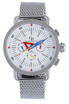 Red, White, & Blue: Toscana Stainless Steel Watch