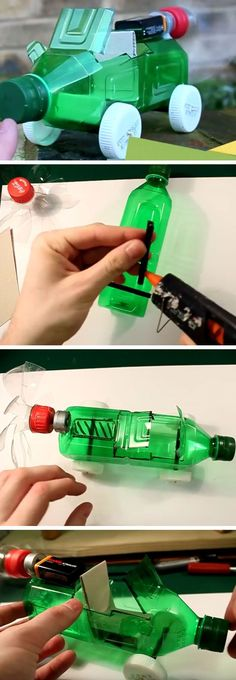 Easy Recycled Bottle Battery Powered Car | 18 DIY Summer Art Projects for Kids to Make | Easy Art Projects for Teens