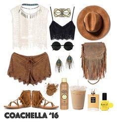 """Taking Coachella"" by nabilci on Polyvore featuring Not Rated, Wet Seal, Jennifer Haley, Serefina, Lauren B. Beauty, Chanel and Sun Bum"