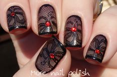 Black Lace with Messy Mansion MM44 ~ More Nail Polish