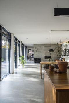 24 simple grey concrete floors for a modern open-plan space - DigsDigs
