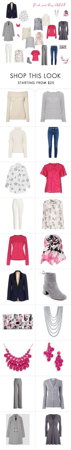"""""""Pink and Grey  AW18"""" by cokie61 on Polyvore featuring Dolce&Gabbana, Samoon, Victoria Beckham, Acne Studios, Être Cécile, VDP, Joseph, Miu Miu, malo and Valentino"""