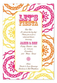 Let's Fiesta - Party Invitations by Invitation Consultants. (Item # IC-RLP-370 )