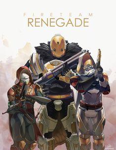 ArtStation - Fireteam Renegade, Reo Solomon Destiny Gif, Destiny Bungie, Video Game Art, Gundam, Combat Knives, Videogames, Solomon, Hypebeast, Levis