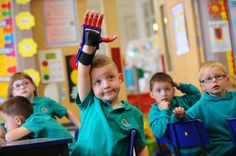 Five-year-old boy returns to school with his amazing £60 prosthetic hand made on a 3D printer | Cian Morris, five, showed off everything he can do with his new prosthetic hand, which was created on a 3D printer. [Prosthetics: http://futuristicnews.com/tag/prosthetic/ 3D Printing: http://futuristicnews.com/tag/3d-printing/]