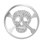 Large Silver Skull Coin for Lucet Mundi Locket