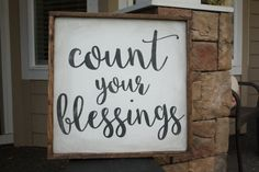 COUNT YOUR BLESSINGS large wood sign by 42ndCircleDesign on Etsy