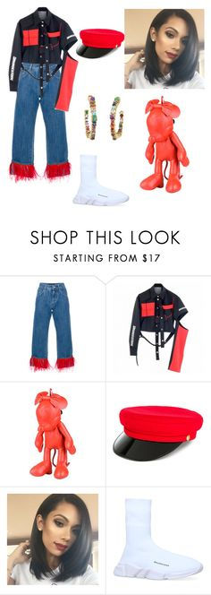 """Untitled #27"" by corina-stanculet ❤ liked on Polyvore featuring Dolce&Gabbana, Maria ke Fisherman, Christopher Ræburn, Manokhi, Balenciaga and Sharon Khazzam"