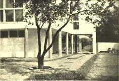 Bohdan Lachert, Józef Szanajca & Stanisław Hempel, Warsaw, 1928-29 Functionalism, Constructivism, Le Corbusier, Modernism, Warsaw, Polish, Plants, House, Modern Architecture