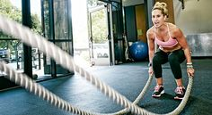 Working out with weighted ropes for just 10 minutes will help you torch 110 calories and rev your ticker. | Health.com