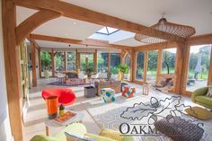 Oakmasters specialises in the design, supply and installation of beautifully finished, tailor made oak beams and structures. Oak Framed Extensions, Rose Cottage, Contemporary, Modern, Beams, Sunrooms, Pergola, Lounge, Outdoor Structures
