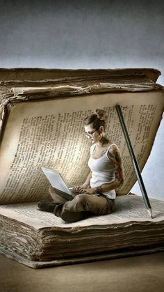 Reading brings other realms into your world. Tea And Books, I Love Books, Surrealism Photography, Book Photography, Art Sketches, Art Drawings, Prophetic Art, Book Images, Anime Art Girl