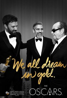 """""""We all dream in gold"""" Poster Series & Morgan Freeman voiced Video Promo for the Upcoming Oscars, Brilliant! Andy Williams, John Krasinski, Andrew Jackson, Morgan Freeman Voice, Award Poster, Chris Rock, Best Photo Poses, Hollywood Party, Hollywood Icons"""