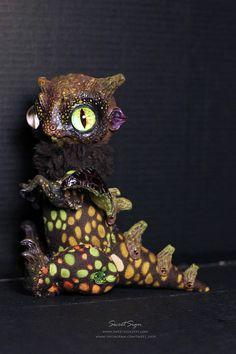 Rainforest Dragon OOAK posable doll gift spirit fantasy