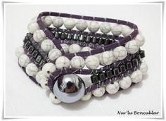 DIY Mor Bileklik / DIY Purple Bracelet