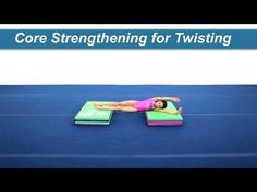 Core Strengthening for Twisting Maintaining a tight core and flat body is essential for twisting skills. Use two panel mats to create a side station for begi. Gym Training, Cross Training, Training Tips, Gymnastics Coaching, Body Tissues, Coach Me, Core Strengthening, Total Body, Body Weight