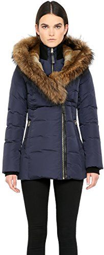 MACKAGE Mackage Ladies Down Coat With Asiatic Raccoon And Rabbit Akiva-F5-Black. #mackage #cloth #