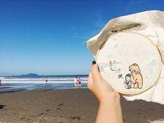 #bordadoviajante no litoral paulista com a @renatadania