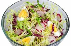 Endives with radishes in tartar sauce - A yummy, rustic salad with crispy bacon. Egg Recipes, Soup Recipes, Salad Recipes, Healthy Salads, Healthy Recipes, Appetizer Salads, Appetizers, Sandwich Fillings
