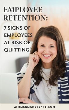 "Zimmerman Events featured on American Express: Employee Retention: 7 Signs of Employees at Risk for Quitting """"It's best not to micromanage your employees,"" says Jessica Zimmerman, owner of Zimmerman Events and author of The Business Behind the Blooms. Work From Home Business, Work From Home Tips, Starting A Business, Creative Business, Business Tips, Online Business, Business Coaching, Employee Retention, Business Management"