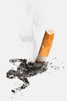 Anti-smoking advertising design.  I like this advertisement a lot.  It gets the point across.  What do cigarettes do to you.  They kill you.  The body is even layed out like it is lined in white chalk.