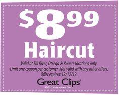 Hair Cuts 5 Off Coupon At Great Clips Hair Cuts