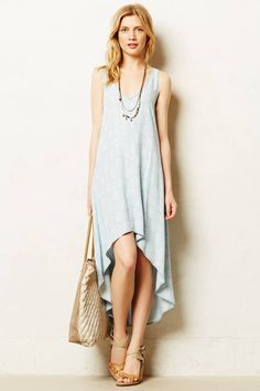 Anthropologie Cloth & Stone Chambray Maxi Dress #anthrofave
