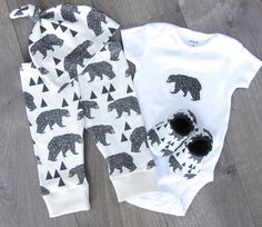 Adorable baby outfits and clothing sets!  CHOOSE YOUR OWN BABY SET! ♥ Baby Leggings & Hats are made from Organic Cotton Knit fabric, printed in the
