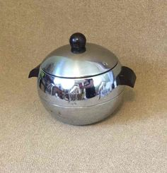 VTG West Bend Penguin Ice Bucket Hot & Cold Insulated Chrome Metal Serving Bowl  | eBay