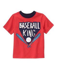 Look at this #zulilyfind! Rococco Red Baseball King Tee - Infant & Toddler #zulilyfinds