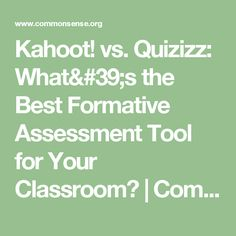 Quizizz: What& the Best Formative Assessment Tool for Your Classroom? Formative Assessment Tools, Common Sense, Educational Technology, Classroom, Good Things, Popular, Ideas, Class Room, Popular Pins