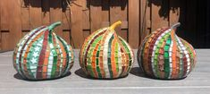 Three Fall Pumpkins in Glass Mosaic | Etsy First Grade Crafts, White Serving Tray, Rainbow Glass, Fall Pumpkins, Mosaic Glass, Frames On Wall, Mosaics, Third, Gift Wrapping