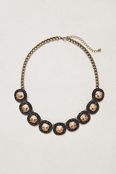 """Caviar Cabochon Necklace in blue by """"BaubleBar x Anthropologie"""""""