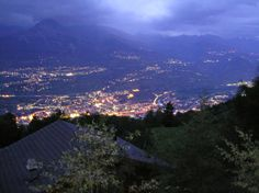 Veysonnaz (Canton du Valais) - Down into the Rhône valley is located the capital of the canton of Valais: Sion / Unten im Rhônetal ist die Hauptstadt des Kantons Wallis: Sitten / Dans la vallée du Rhône est la capitale du canton du Valais: Sion.