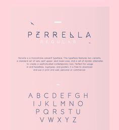 Perrella Free Typeface