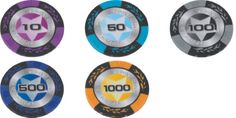 500 Wheatear Clay Cash Chips 10-1000